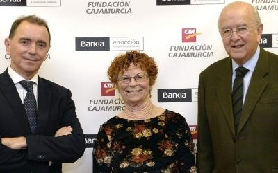 The signing of the agreement between the CajaMurcia Foundation and Bankia with AFAMUR